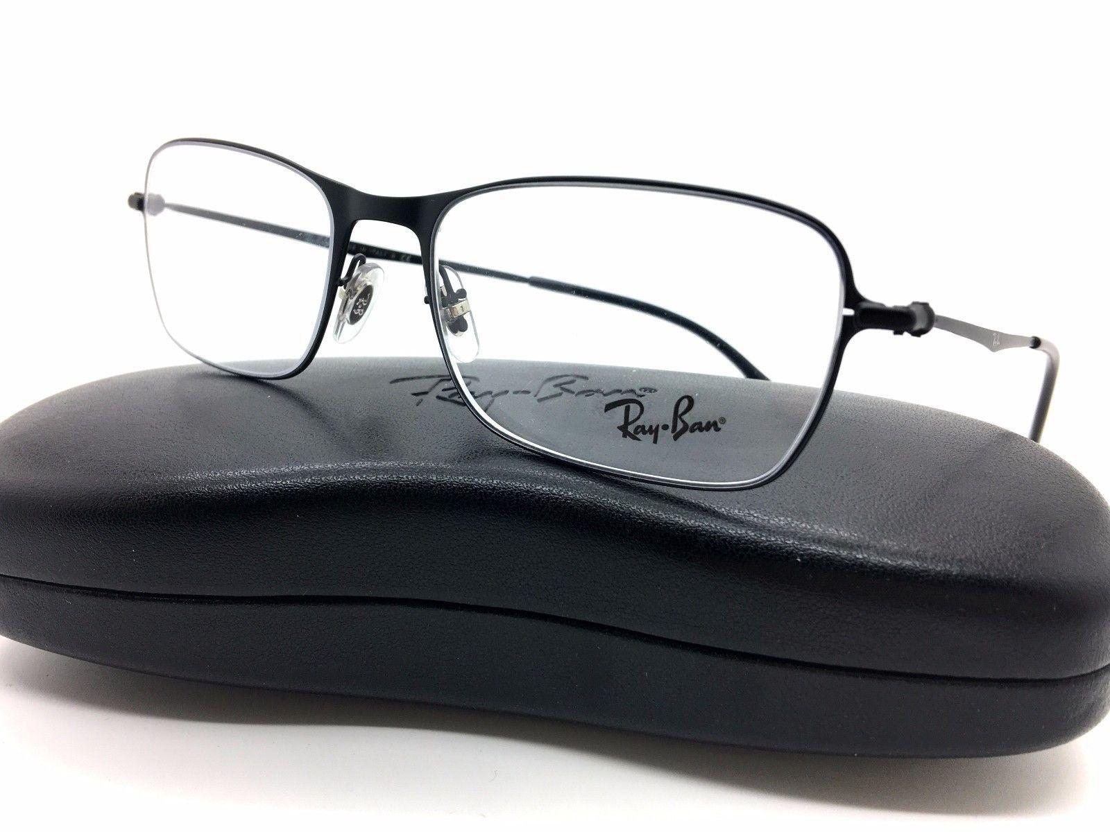e2359b48c1 S l1600. S l1600. Ray Ban Matte Black Metal RB 6253 2760 54mm 18mm 145  Eyeglasses Demo lenses. Free Shipping