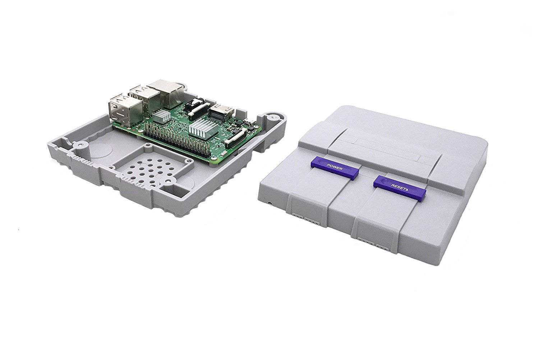 Raspberry Pi 3 Mini SNES Classic Tribute Retro Gaming 64GB with Controller. NES