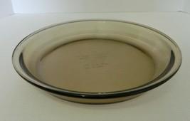 "Anchor Hocking Brown Vintage Pie Plate Pan Glass 9"" Diameter USA .75 Qt - $19.68"