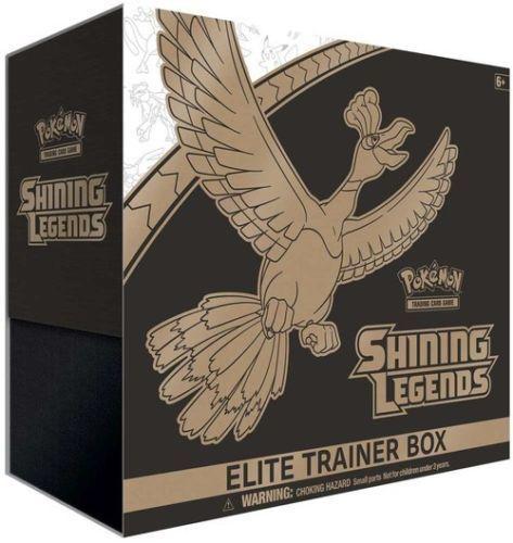 Sun & Moon Crimson Invasion + Shining Legends Elite Trainer Box Pokemon Sealed