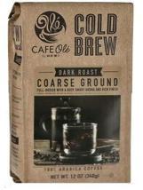 HEB Cafe Ole Cold Brew Dark Roast Coarse Ground Coffee - 12 oz - $15.00