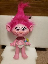 Trolls Poppy Singing talking and listening Figure Plush Pink Ring No Clo... - $19.79