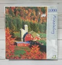 "NEW Puzzlebug ""Farm Buildings in Autumn"" 1000 Piece jigsaw puzzle - $12.86"