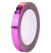 4 Rolls Wave Pattern Striping Tape Line Nail Art Decoration Sticker, Rose Red