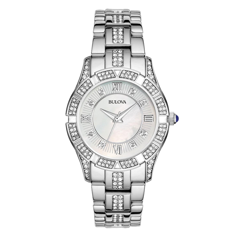 Bulova Women's Stainless Steel Crystal Watch 96L116