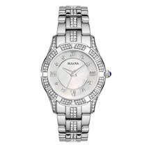 Bulova Women's Stainless Steel Crystal Watch 96L116 image 1