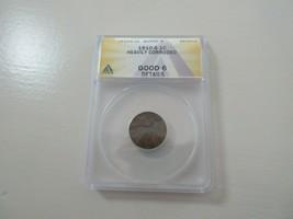 1910-S Lincoln Penny , Good 6 , ANACS ,  Heavily  Corroded - $19.80