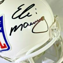 ARCHIE, PEYTON & ELI MANNING / TRIPLE AUTOGRAPHED NFL LOGO MINI HELMET / STEINER image 2