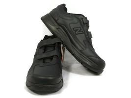 New Balance DSL 2 Men's Walking Shoes Black Leather Adjustable Strap 11 D NEW - $35.63