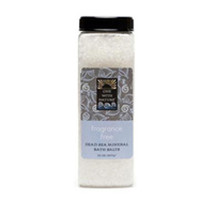 Bath Salts, Dead Sea Minerals/Fragrance Free 32 Oz by One with Nature - $9.71