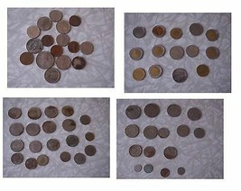 Assorted Old Coins For Collectors Italy Costa Rica Salvador UK ETC - $38.99