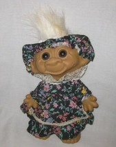 "So Cute 8"" Wishnik Troll With Hat And Dress - $26.03"