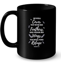 He Will Cover You With His Feathers Psalm 914 Gift Coffee Mug - $13.99+