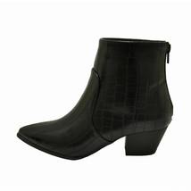 Qupid MYSTIQUE 01 Black Crocodile Women's Pointy Toe Ankle Booties - $38.95