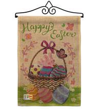 Happy Easter Colourful Basket Eggs Burlap - Impressions Decorative Metal Wall Ha - $33.97