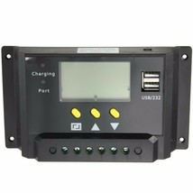 12V 24V PWM Solar Panel Regulator Charge Controller USB Charge Port - $34.28
