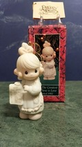 Precious Moments 1992 Figurine 527696 But The Greatest Of These Is LOVE--G Clef. - $9.80