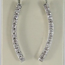 Silver Earrings 925 Tried and Tested with Temple Hard with Zircon Cubic White image 1