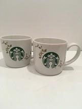 Pair STARBUCKS COFFEE 2013 Holiday Collection Coffee Mugs Cups 14 fl oz ... - $15.00