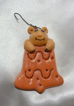Handmade Mouse on Cookie Christmas Ornament - $6.44