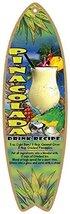 "Pina colada drink recipe 5"" x 16"" Surfboard Wood Plaque  - $15.00"