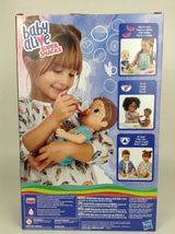Baby Alive Super Snacks Snackin Luke Brunette Boy Doll with Airplane Spoon New image 4