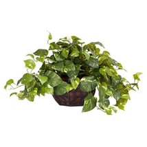 Nearly Natural 6681 Pothos with Vase Decorative Silk Plant, Green - $77.42 CAD