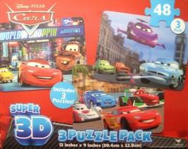 Disney Cars 2 Super 3D 3 Pack Puzzle - $15.83