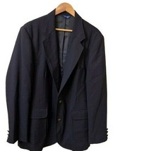 Pendleton Mens Size 46 Long Two Button Wool Polyester Blazer Jacket Navy... - $46.54