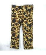 Columbia Omni Tech Pants Waterproof Men Size L Camouflage Nylon Drawstring - $24.74