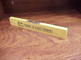 Vintage Coast To Coast Store Yellow Wood Bubble Level, 12 Inch Ruler - $9.95