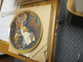 """Norman Rockwell """"DREAMING IN THE ATTIC"""" Plate """"Rediscovered Women"""" Serie... - $24.75"""
