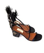 J-2483179 New Valentino Garavani Black Africa Glam Mask Sandals Heels Sz... - $354.53