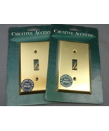 Two (2) Creative Accents Polished Brass Single Toggle Switch Wall Plate - $12.90