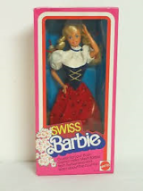Vintage Swiss Dolls of the World Barbie - 1983, Mattel#7541-New in Box - $34.99