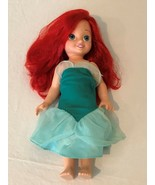 "Disney My First Princess Ariel Doll Toddler 15"" Doll with Green Dress Re... - $11.99"