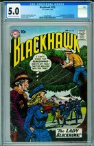 BLACKHAWK COMICS #133 CGC 5.0 1st LADY BLACKHAWK 1959-DC 2020383006 - $848.75