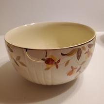 "Vintage Hall's Superior Quality Kitchenware Autumn Leaf bowl 8.5"" diameter - $14.00"