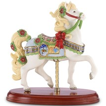 Lenox 2014 Christmas Carousel Horse Figurine Annual Poinsettias Gingerbread NEW - $161.37