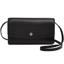 NEW TORY BURCH (39009) ROBINSON PEBBLED LEATHER MINI FLAP WALLET CROSSBO... - $145.00