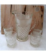 "5 Anchor Hocking Wexford ""On the Rocks"" old fashioned glasses and Pitcher - $19.79"
