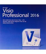 Microsoft Visio Professional 2016 Brand New Genuine - 1 PC Key permanant... - $9.96