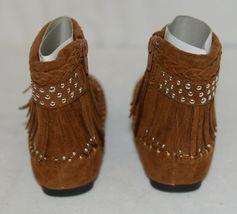 I Love Yo Kids AVA 78K Girls Fringe Boot Rust Silver Studded Size 10 image 4
