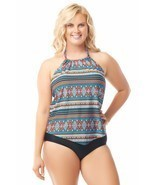 Sea & Sand Beachwear Tankini Set Bathing Suit - £28.75 GBP