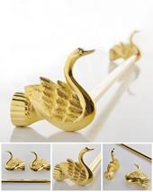 Bathroom Accessories Bath Hardware Set Golden Color Swan SINGLE TOWEL BAR  - $147.51