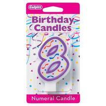 8' Purple Numeral Candles - $0.58+