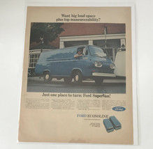 Want Grande Carico Spazio Plus Top Maneuverability Ford Econoline 1966 Stampa Ad - $27.93