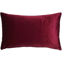 Pillow Decor - Corona Scarlet Velvet Pillow 12x20 - £30.60 GBP