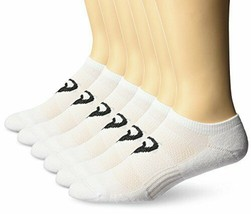 ASICS Men's 6 Pair Pack Invasion No Show White Socks 12-14 X-Large ZK3186 - $22.99