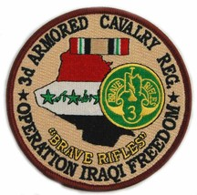 US Army 3rd Armored Cavalry Regiment Operation Iraqi Freedom Patch - $9.89